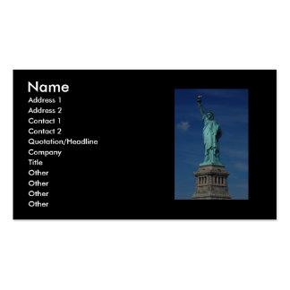 Libertad que aclara el mundo - estatua de la liber plantillas de tarjetas de visita