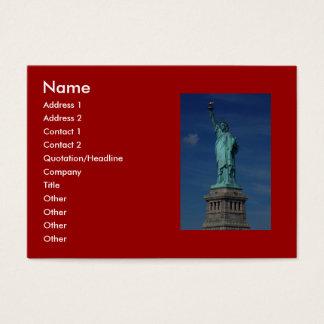 Libertad que aclara el mundo - estatua de la tarjeta de negocios