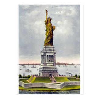 Libertad que aclara el mundo tarjeta postal