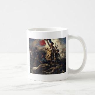 Libertad que lleva a la gente taza de café