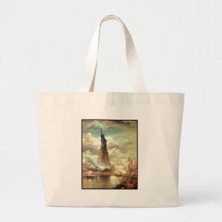 Libertad que se coloca alta bolsa tela grande