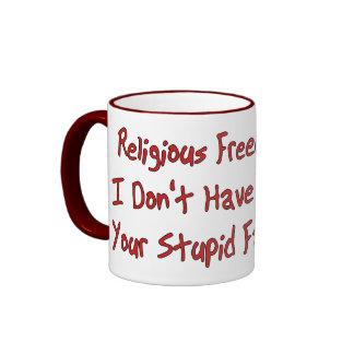 Libertad religiosa taza de dos colores