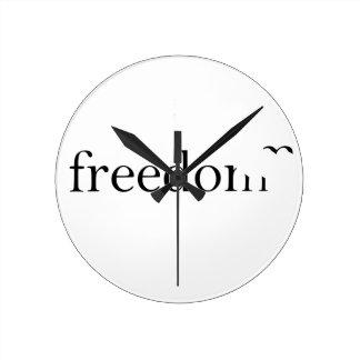 Libertad Reloj Redondo Mediano