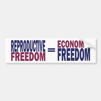 Libertad reproductiva pegatina para auto