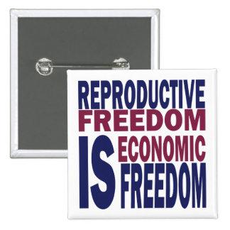 Libertad reproductiva pin cuadrado