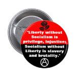 libertad sin el botón del socialismo pin