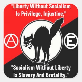 libertad sin pegatina del cuadrado del socialismo