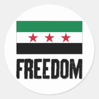 Libertad - Siria Pegatina Redonda