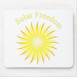 Libertad solar de T11a Alfombrillas De Raton