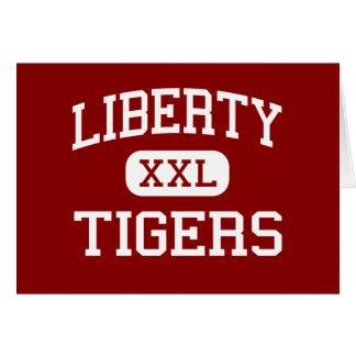 Libertad - tigres - escuela secundaria - montones  tarjeta de felicitación