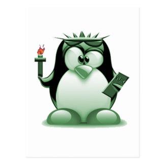 Libertad Tux (Linux Tux) Postal