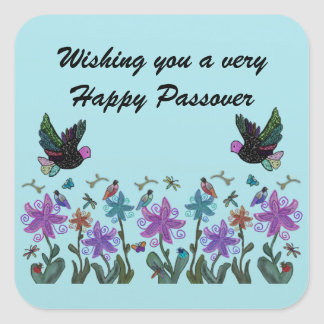 Libertad verdadera del Passover Pegatina Cuadrada