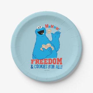 ¡Libertad y galletas para todos! Platos De Papel