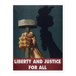 Libertad y justicia para toda la postal
