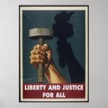 Libertad y justicia para todo el poster