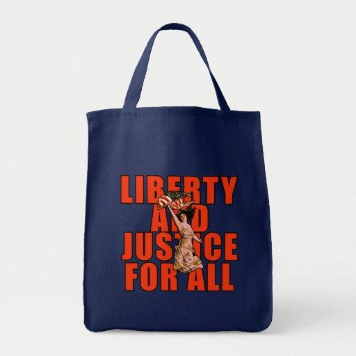 Libertad y justicia para todos los productos bolsa de mano