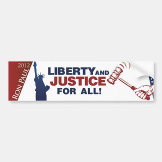 ¡Libertad y justicia para todos! Pegatina Para Auto