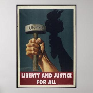 Libertad y justicia para todos - poster de la póster