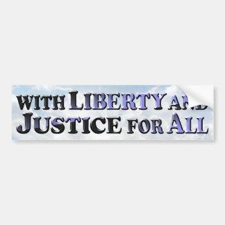 Libertad y justicia - pegatina para el parachoques pegatina para auto