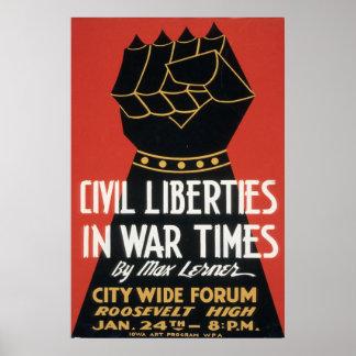 Libertades civiles en tiempos de guerra poster