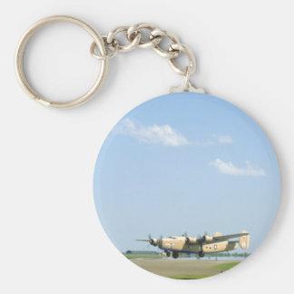 Libertador B24. (avión; aviones de b24_WWII Llavero Redondo Tipo Pin