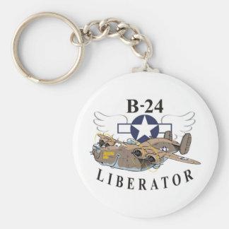 Libertador B-24 Llavero Redondo Tipo Pin