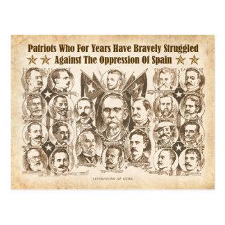 Libertadores de Cuba - artículo periodístico 1898 Postal
