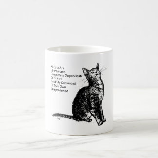 Libertarian Cat Coffee Mug