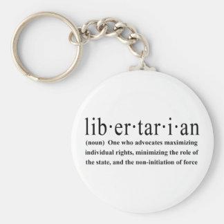 Libertarian Definition Basic Round Button Keychain