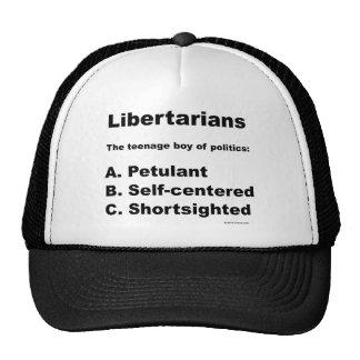 Libertarian definition trucker hat