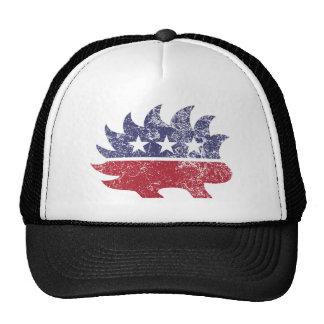 Libertarian distressed trucker hat