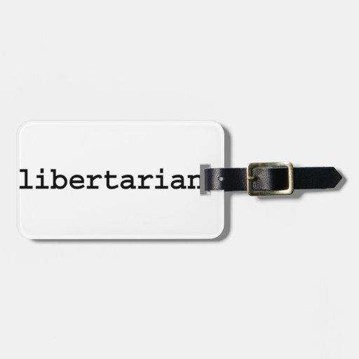 libertarian. etiquetas para maletas