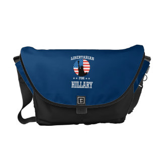LIBERTARIAN FOR HILLARY COURIER BAG