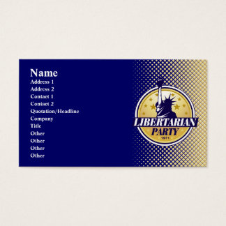 Libertarian Party Business Cards
