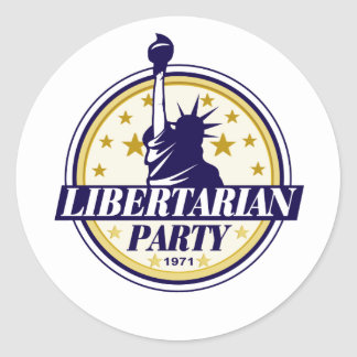 libertarian party logo round stickers