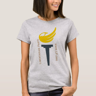 Libertarian Party Logo Tee - With LP Text on Front