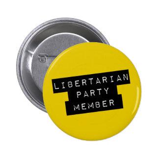 Libertarian Party Member Pinback Button