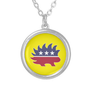Libertarian Party Silver Plated Necklace
