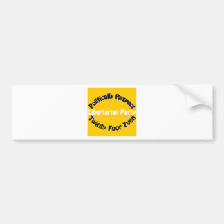 Libertarian Party - Twinty Foor 7ven Bumper Stickers