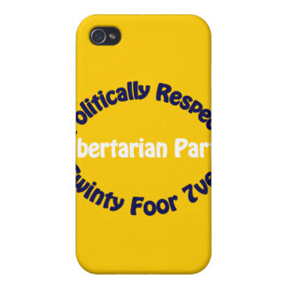 Libertarian Party - Twinty Foor 7ven iPhone 4 Covers