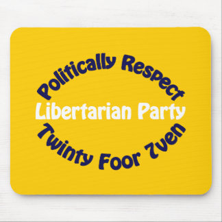 Libertarian Party - Twinty Foor 7ven Mouse Pad