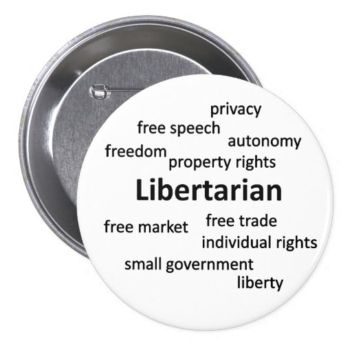 Libertarian Philosophy and Values Pinback Buttons