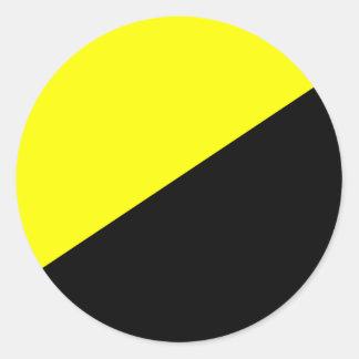 Libertarian pin classic round sticker
