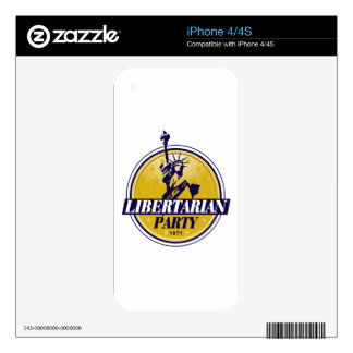 Libertarian Political Party Logo Skin For The iPhone 4