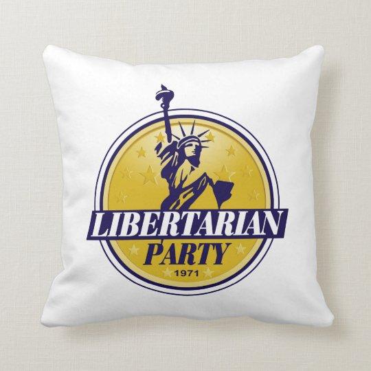 Libertarian Political Party Logo Throw Pillow