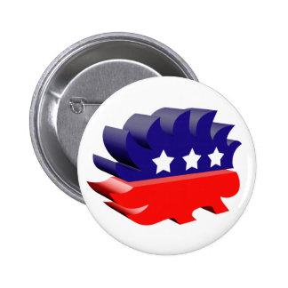 Libertarian porcupine 3D 2 Inch Round Button
