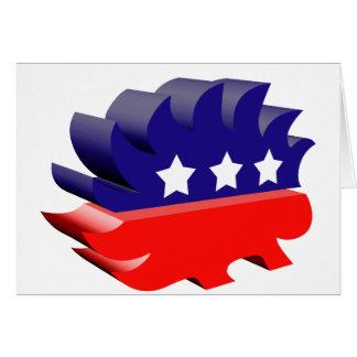 Libertarian porcupine 3D Greeting Card