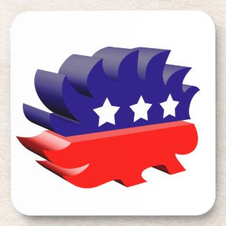 Libertarian porcupine 3D Drink Coaster