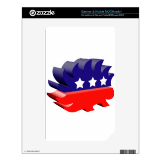 Libertarian porcupine 3D Decal For NOOK Color