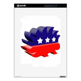 Libertarian porcupine 3D Decals For The iPad 2